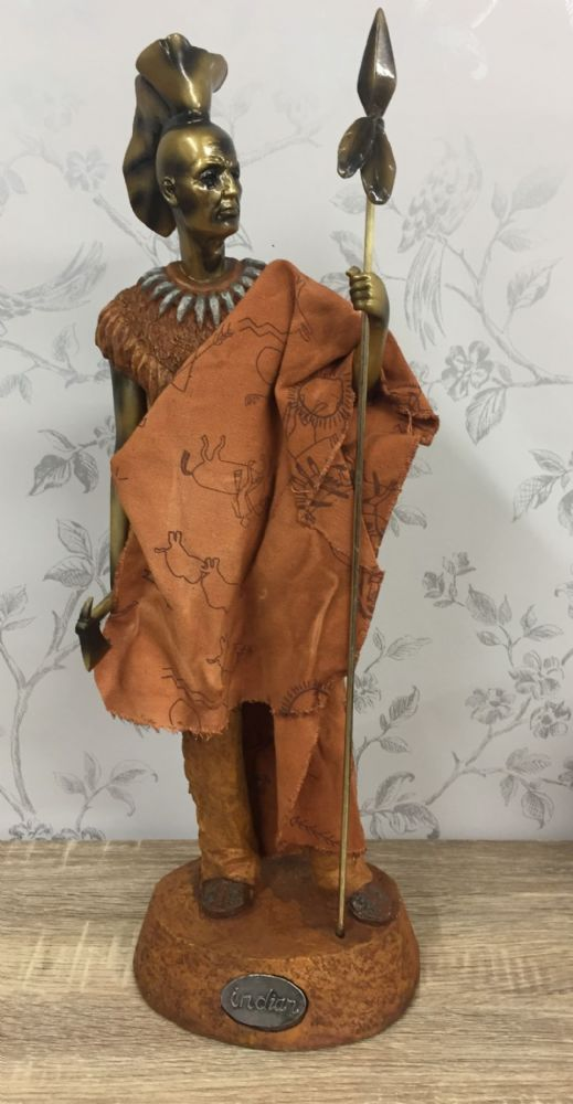 Large Indian Plains Warrior Ornament in Traditional Dress with Armour (C)
